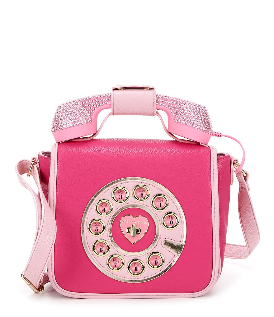 Betsey Johnson Rhinestone Telephone Cross-Body Bag