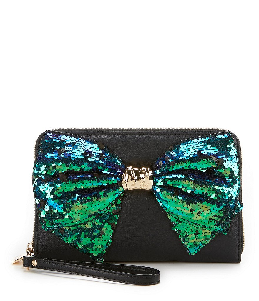 Betsey Johnson Bow-Lesque Large Zip-Around Wallet