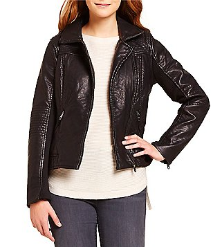 Steve Madden Asymmetrical Faux Leather Moto Jacket