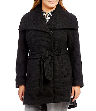 Steve Madden Plus Wool Wrap Walker Coat