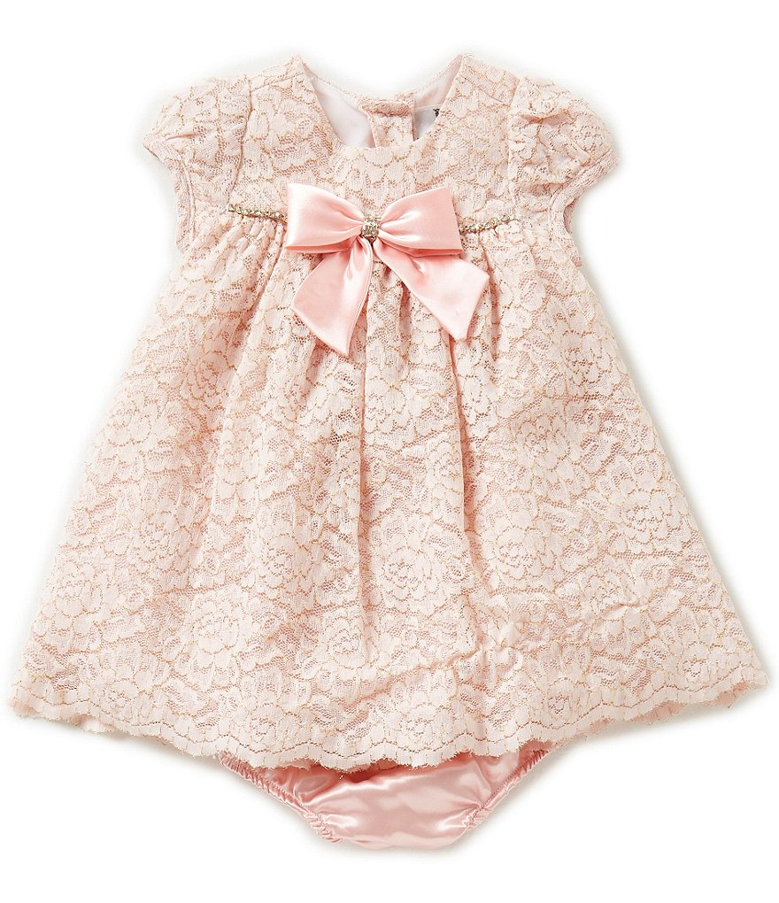 Rare Editions Baby Girls 3-24 Months Cap-Sleeved Lace Dress