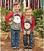 Color:Grey - Image 2 - Mud Pie Baby Boys 12-24 Months Christmas Santa Long-Sleeve Shirt