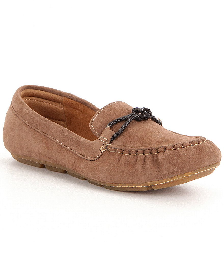 Montana Massena Suede Slip-On Knot Accent Moccasins
