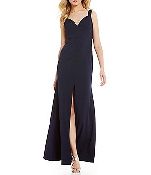 Vera Wang Sweetheart Neck Sleeveless Scuba Mermaid Gown