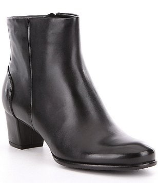 ECCO Pailin Leather Old Western Ankle Booties