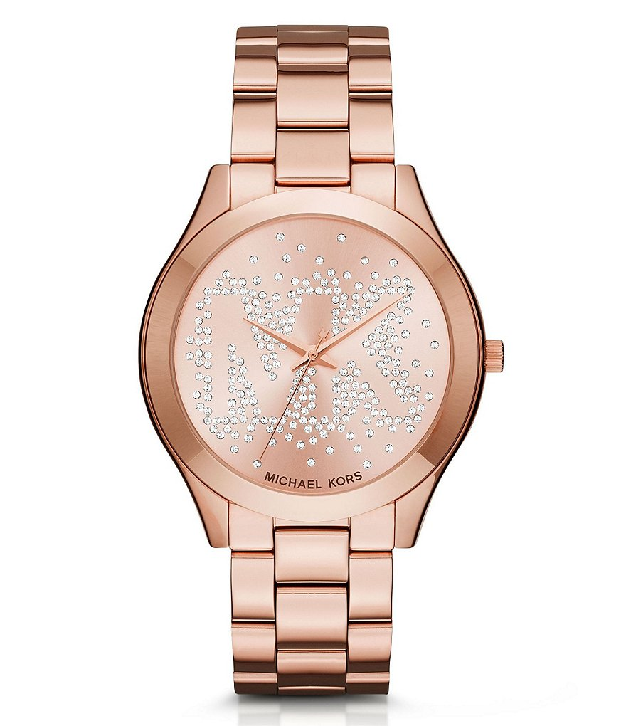 Michael Kors Slim Runway Three-Hand Bracelet Watch