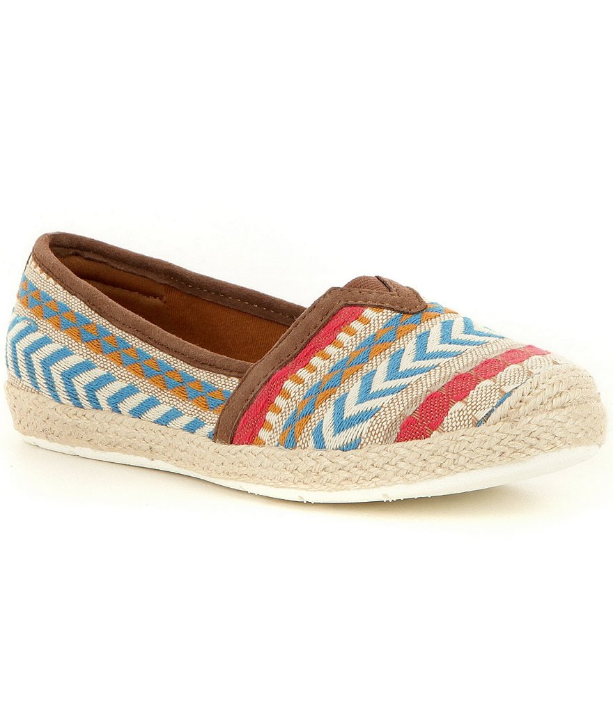Montana Soto Fabric Patterned Slip-On Espadrilles