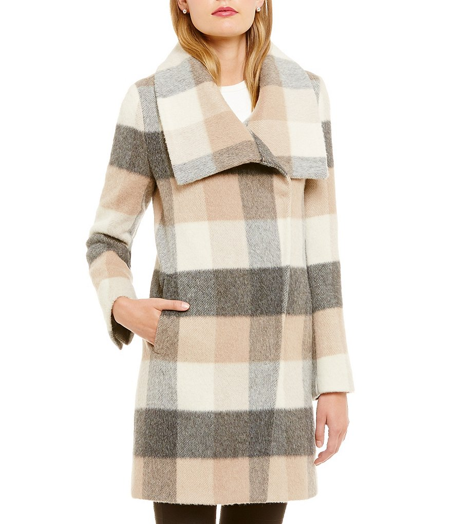 Katherine Kelly Alpaca Blend Envelope Collar Walker Coat