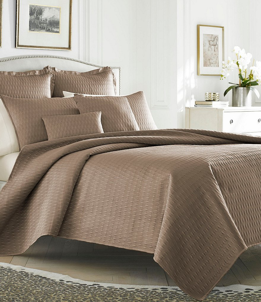 J. Queen New York Hudson Quilted Satin Coverlet Mini Set