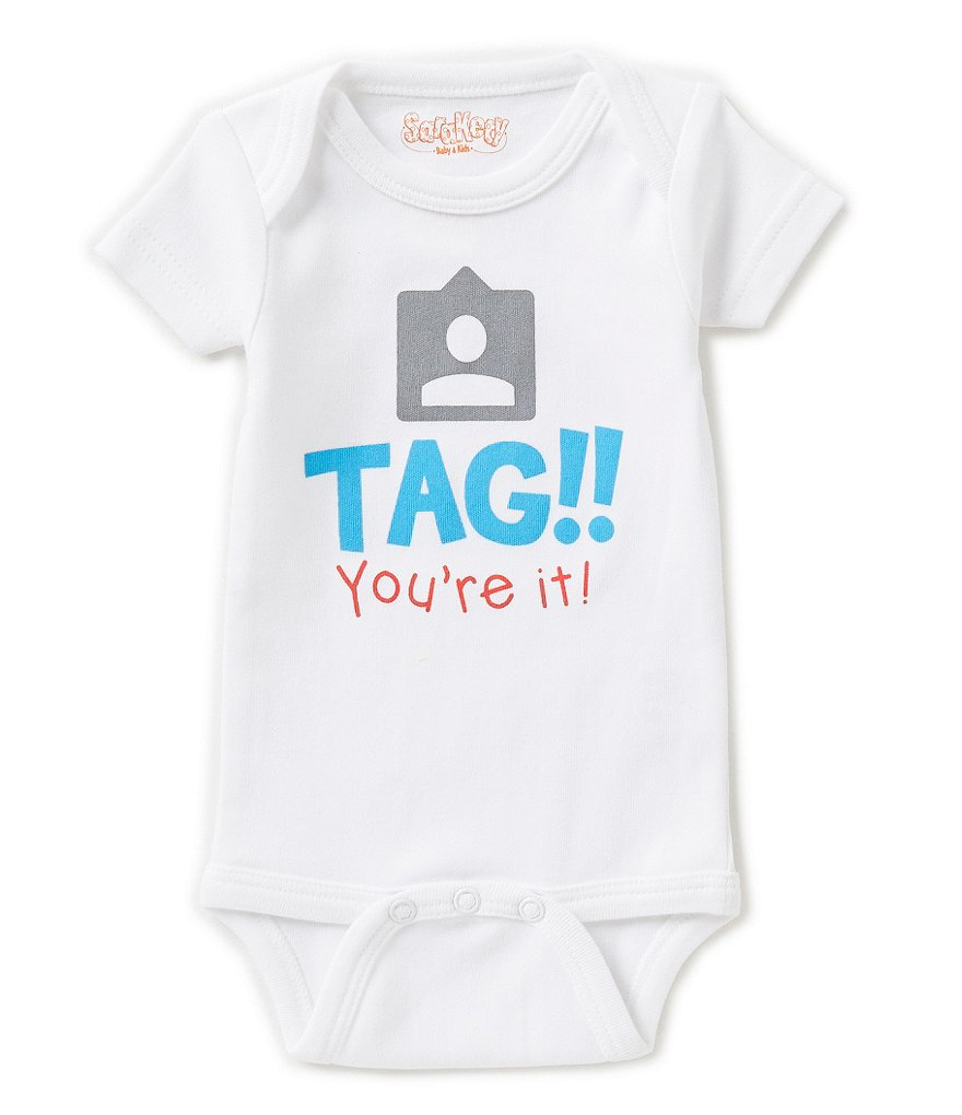 Sara Kety Baby Newborn-18 Months Tag You´re It Short-Sleeve Bodysuit