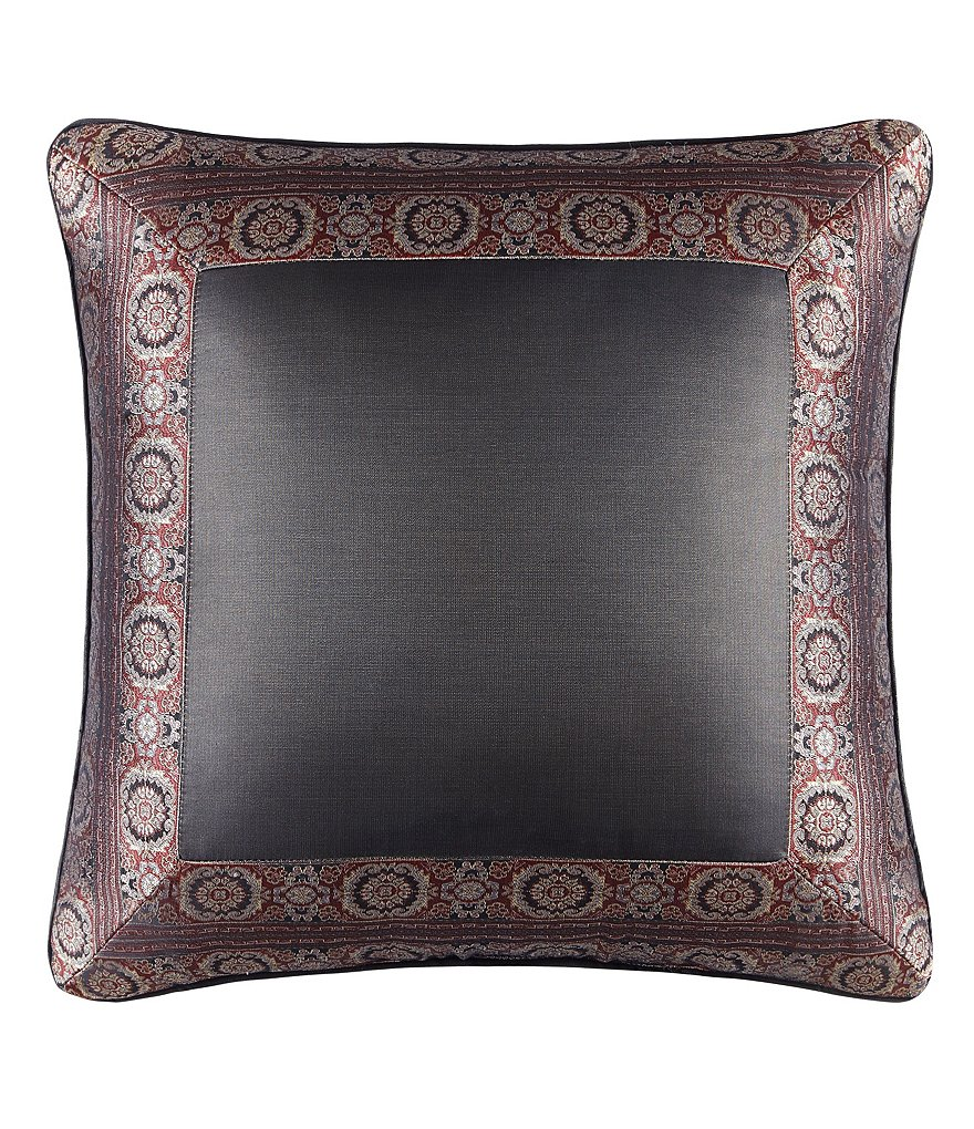 J. Queen New York Bridgeport Bordered Square Pillow