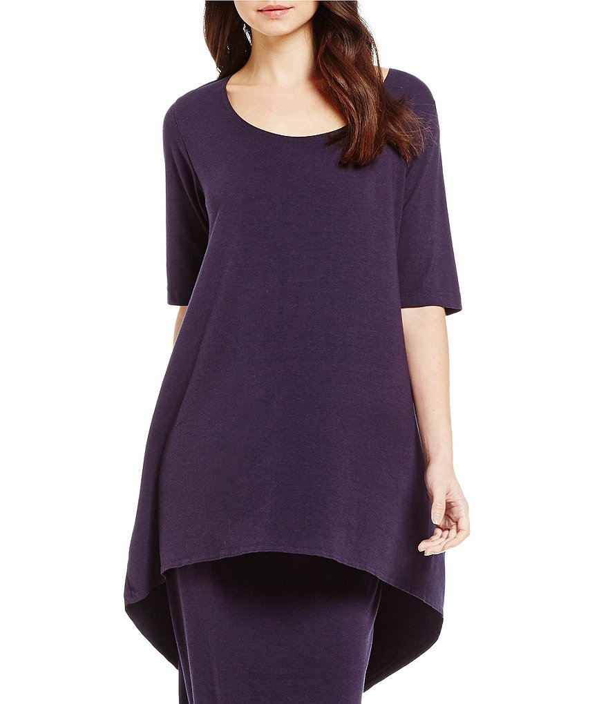 Bryn Walker Lilo Elbow Sleeve Hi-Low Hem Tunic