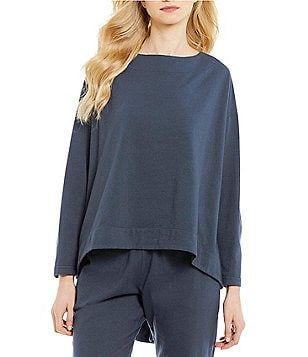 Bryn Walker Evan Crew Neck Long Sleeve Oversized Solid Tunic