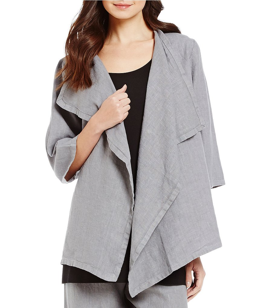 Bryn Walker Marie Asymmetrical Neck Heavy Linen Jacket