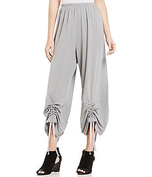 Bryn Walker Elastic Waist Drawstring Leg Ruched Pants