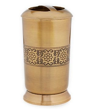 Noble Excellence Tangier Antique Brass Toothbrush Holder