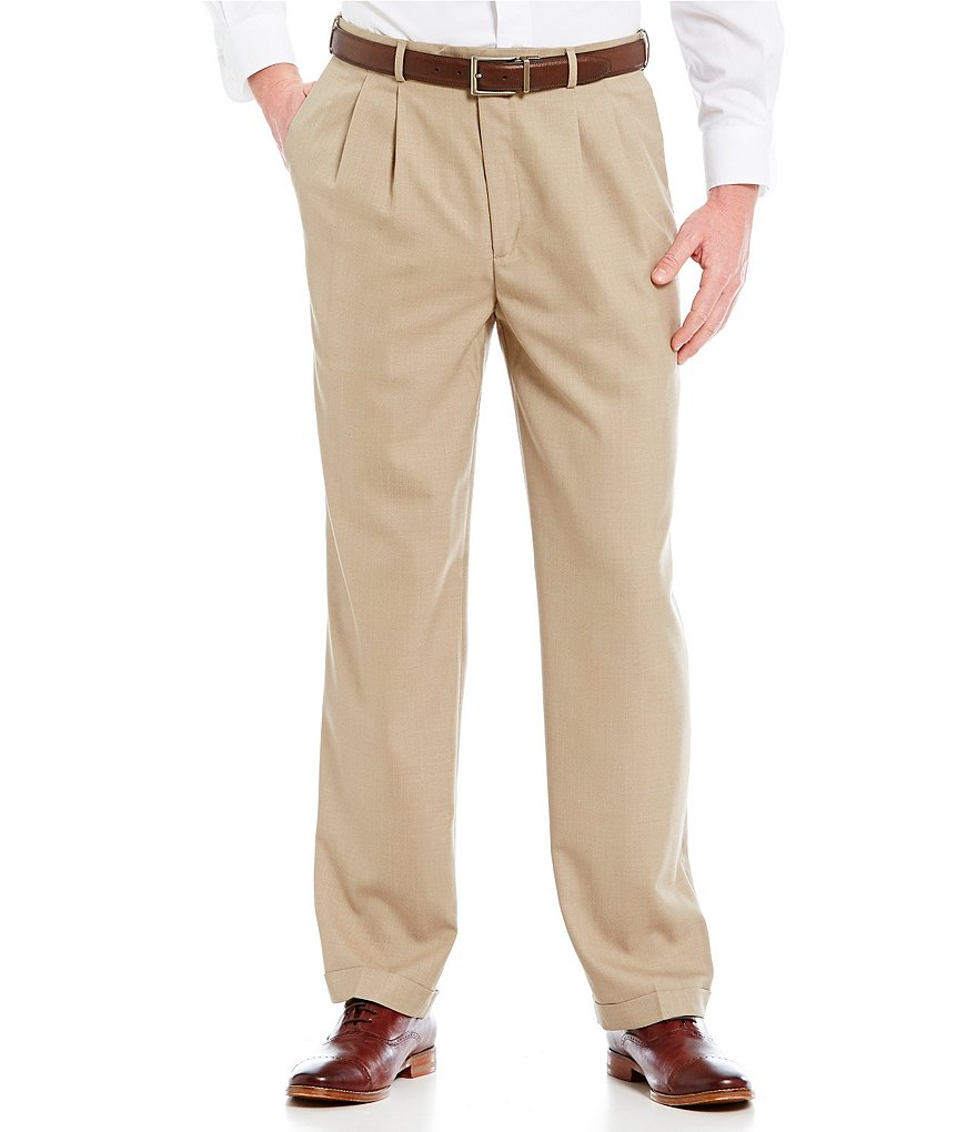 Roundtree & Yorke Pleated Expander Dress Pants