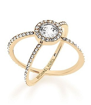 Michael Kors Cubic Zirconia Crisscross Ring