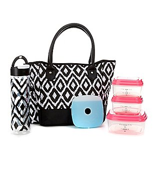 Fit & Fresh McAllen Painted Diamond-Print Insulated Lunch Bag Kit