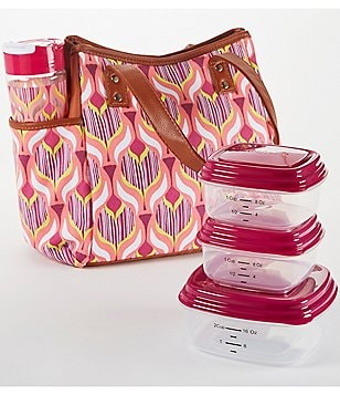 Fit & Fresh Westerly Tropical Leaf Drop-Print Lunch Kit