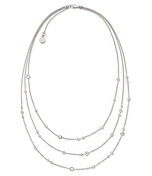 Michael Kors Cubic Zirconia Multi-Strand Necklace