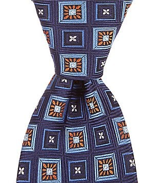 Hart Schaffner Marx Wall Art Medallion Pattern Traditional Silk Tie