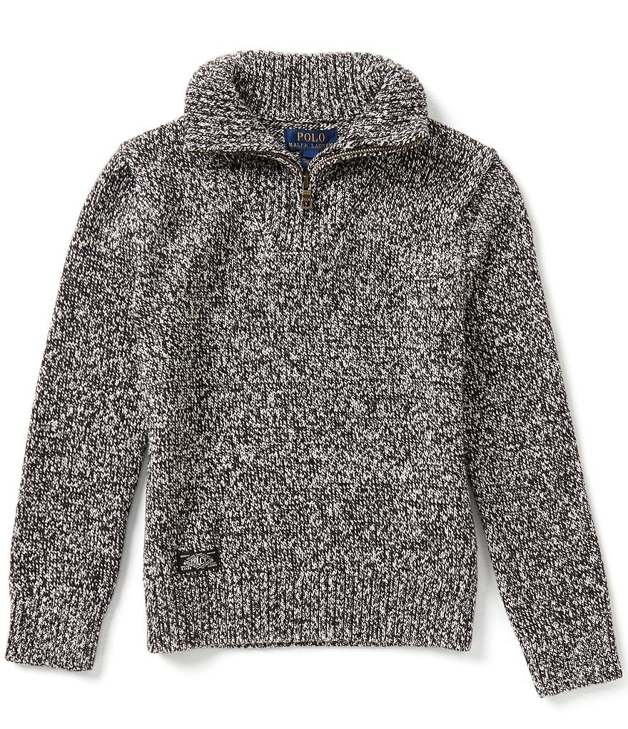Ralph Lauren Childrenswear Big Boys 8-20 Marled-Textured Sweater