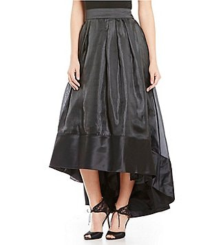 J.R. Nites Hi-Low Satin Ballgown Skirt