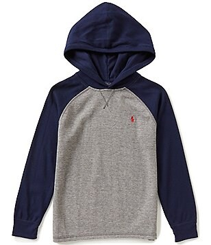 Ralph Lauren Childrenswear Little Boys 5-7 Color Block Waffle-Knit Hoodie