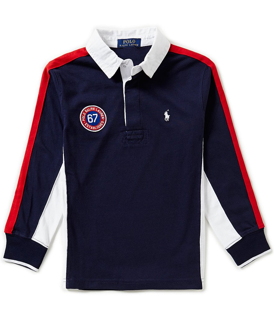 Ralph Lauren Childrenswear Big Boys 8-20 Striped Jersey Rugby Tee