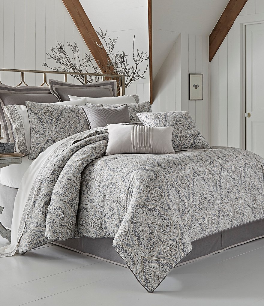 Piper & Wright Mykonos Damask Comforter Set