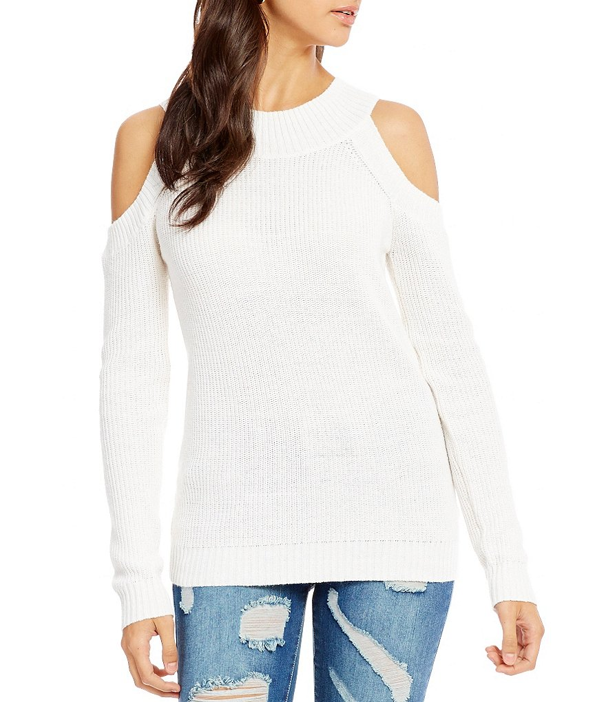 C&V Chelsea & Violet Cold Shoulder Sweater