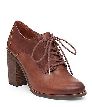 Lucky Brand Maise Leather Lace Up Oxfords