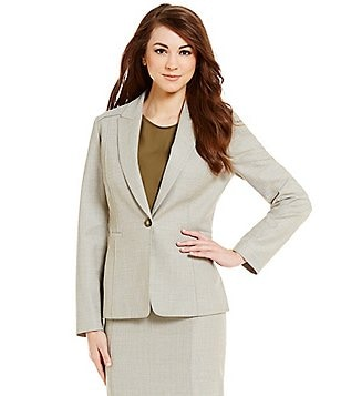 Antonio Melani Zoe Herringbone Notch Lapel Jacket