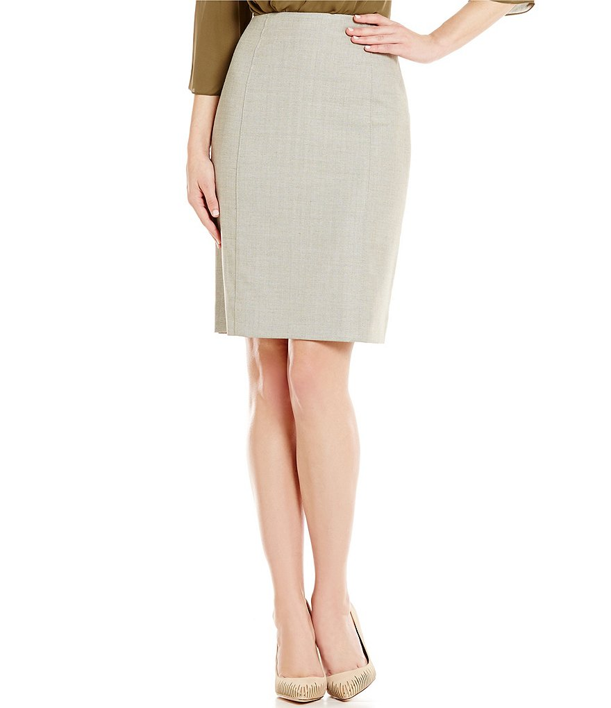 Antonio Melani Blair Herringbone Pencil Skirt