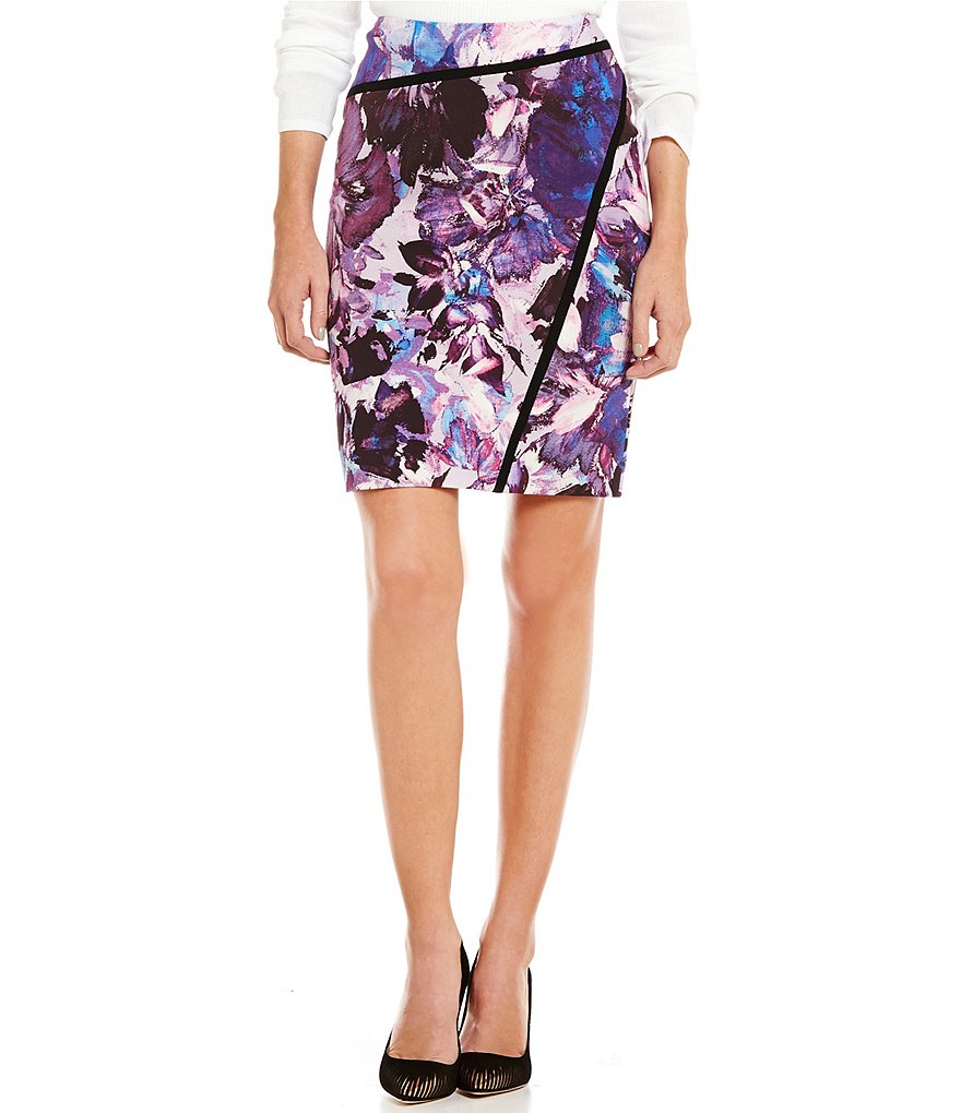 Antonio Melani Didi Printed Ponte Pencil Skirt