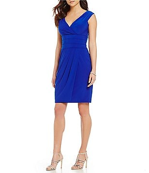 Kay Unger Portrait Collar Sheath Dress