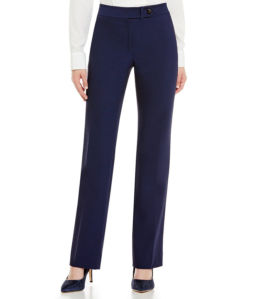 Antonio Melani Kaylie Pique Straight Leg Suiting Pant