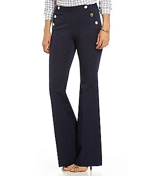 MICHAEL Michael Kors Flat Front Stretch Twill Vintage Flare Pants