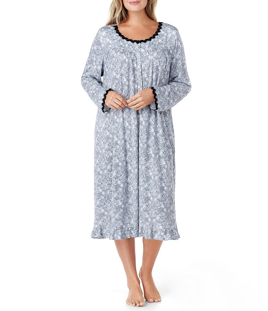Eileen West Plus Paisley Waltz Nightgown