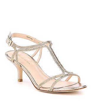 Pelle Moda Abbie2 T-Strap Buckle Closure Dress Sandals