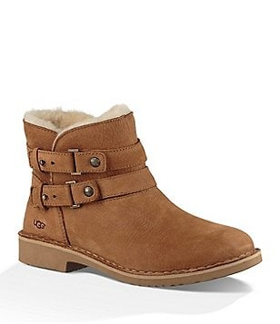 UGG® Aliso Nubuck Pull-On Top Strap Hardware Booties