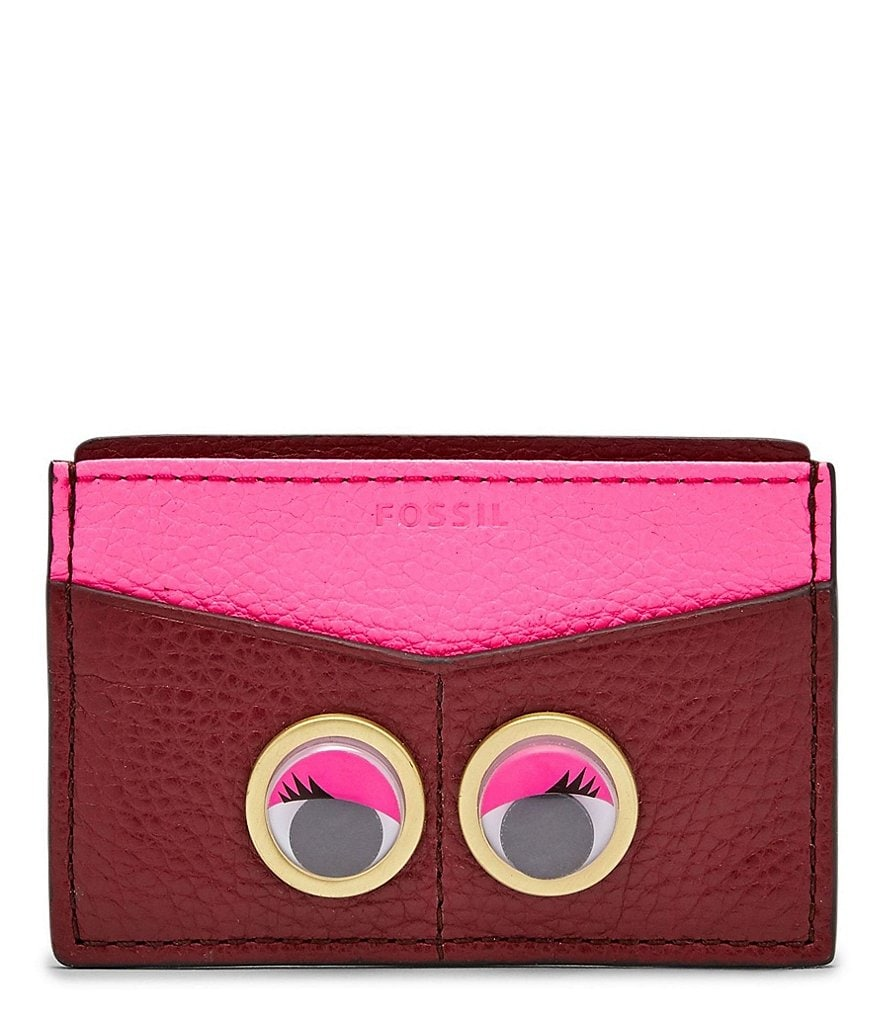 Fossil Googly Eye Card Case
