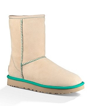 UGG® Classic Short II Sheepskin Lined Pull-On Neon Boots