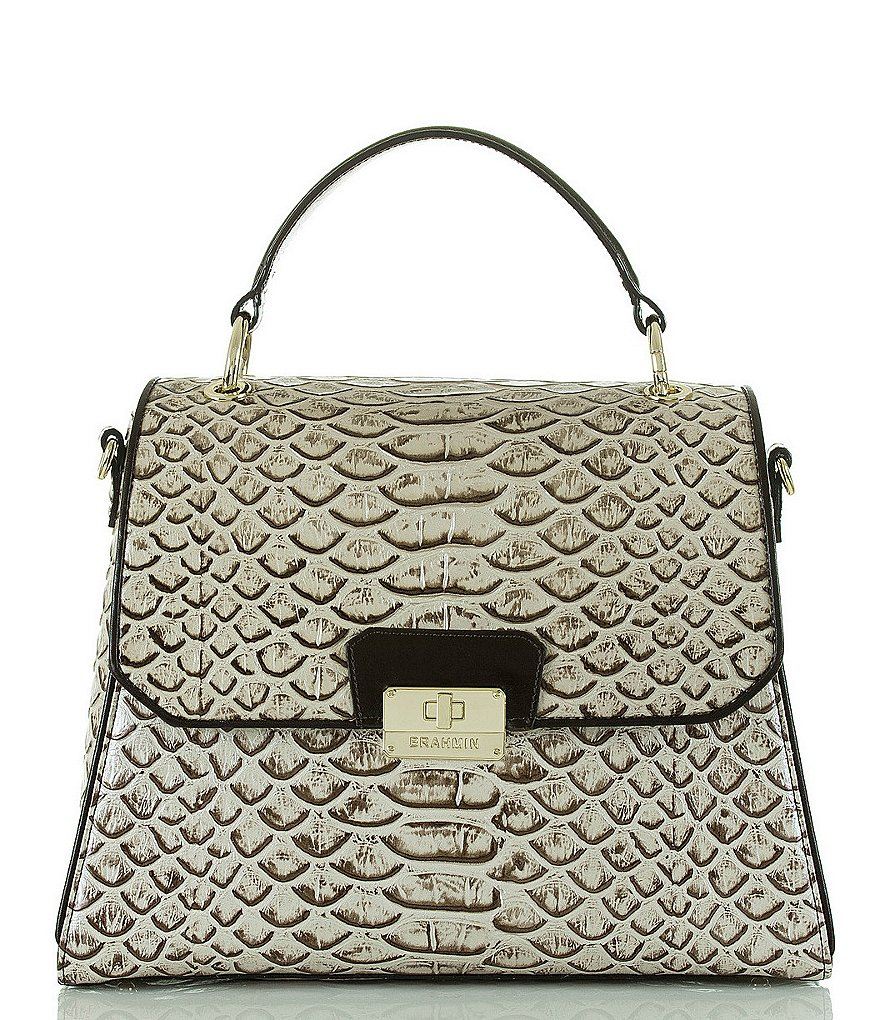 Brahmin Dogwood Collection Brinley Top Handle Satchel
