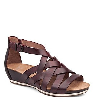 Dansko Vivian Vintage Leather Criss Cross Banded Gladiator Sandals