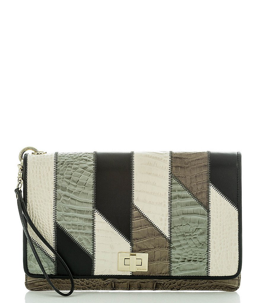 Brahmin Caspian Collection Lily Patchwork Pouch
