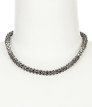 Anne Klein Set In Stone Pavé Collar Necklace