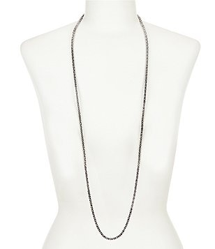 Anne Klein Set in Stone Hematite Pavé Necklace