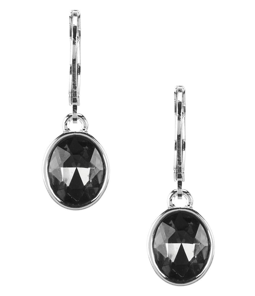Anne Klein Set in Stone Drop Earrings